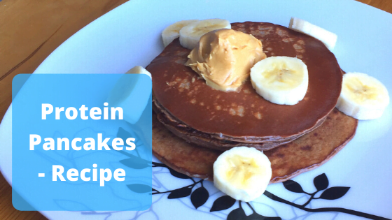 Simple Protein Packed Pancakes with Banana